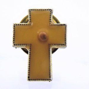Antique Enamel Cross Pin